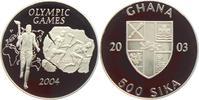 500 Sika 2003 Ghana Olympische Spiele 2004 in Athen - Fackellauf PP  24,95 EUR  zzgl. 4,95 EUR Versand
