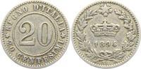 20 Centesimi 1894 KB Italien Umberto I. (1878 - 1900) ss-vz  6,00 EUR  zzgl. 2,95 EUR Versand
