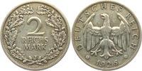 2 Reichsmark 1926 J Weimarer Republik Reichsmark Kursmünze ss  12,95 EUR  zzgl. 4,95 EUR Versand