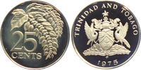 25 Cents 1975 Trinidad und Tobago Palmwedel PP  8,95 EUR  zzgl. 2,95 EUR Versand