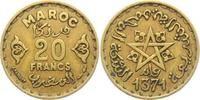20 Francs 1371 AH Marokko Stern ss  1,95 EUR  zzgl. 2,95 EUR Versand