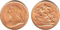 1 Sovereign 1894 M Australien Queeen Victoria (1837-1901) ss/vz  369,00 EUR  zzgl. 6,95 EUR Versand