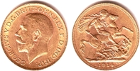 1 Sovereign 1914 Großbritannien Georg V. (1910-1936) pfr.  379,00 EUR  zzgl. 6,95 EUR Versand