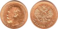 5 Rubel 1898 Russland Nikolaus II.(1894-1917) ss/vz/Rf.  189,00 EUR  zzgl. 6,95 EUR Versand
