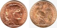 20 Francs 1911 Frankreich Kopf der Marianne und Gallischer Hahn st  239,00 EUR  zzgl. 6,95 EUR Versand