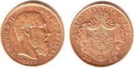 20 Francs 1877 Belgien König Leopold II. (1865-1909) vz+  289,00 EUR  zzgl. 6,95 EUR Versand