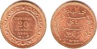 20 Francs 1904 A Tunesien Französische Protektorad vz  249,00 EUR  zzgl. 6,95 EUR Versand