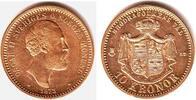 10 Kronen 1873 Schweden König Oskar II. (1872-1907) f.st/Rf.  298,00 EUR  zzgl. 6,95 EUR Versand