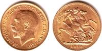 1 Sovereign 1914 Großbritannien Georg V. (1910-1936) f.st  379,00 EUR  zzgl. 6,95 EUR Versand