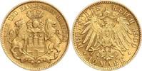 10 Mark 1900 J Hamburg Stadtwappen von zwei Löwen gehalten ss/vz  398,00 EUR  zzgl. 6,95 EUR Versand