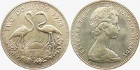 2 Dollar 1966 Bahamas 2 Flamingos - Vögel f.st  27,00 EUR  zzgl. 4,95 EUR Versand