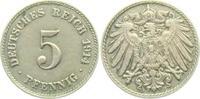 5 Pfennig 1914 J Kaiserreich 5 Pfennig - großer Adler ss-vz  3,95 EUR  zzgl. 2,95 EUR Versand