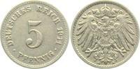 5 Pfennig 1911 A Kaiserreich 5 Pfennig - großer Adler vz  2,95 EUR  zzgl. 2,95 EUR Versand