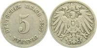 5 Pfennig 1897 E Kaiserreich 5 Pfennig - großer Adler ss-vz  7,95 EUR  zzgl. 2,95 EUR Versand