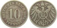 10 Pfennig 1892 G Kaiserreich 10 Pfennig - großer Adler ss  9,95 EUR  zzgl. 2,95 EUR Versand