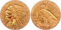 2 1/2 Dollar 1915 USA - Vereinigte Staaten Indian Head vz  292,00 EUR  zzgl. 6,95 EUR Versand