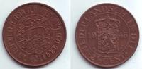 2 1/2 Cents 1945 Niederländisch Indien Wilhelmina (1890 - 1948) vz-st  9,95 EUR  zzgl. 2,95 EUR Versand