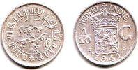 1/10 Gulden 1941 Niederländisch Indien Wilhelmina (1890 - 1948) st  9,95 EUR  zzgl. 2,95 EUR Versand