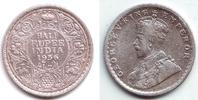 1/2 Rupie 1936 Indien George V. (1910 - 1936) vz  29,95 EUR  zzgl. 4,95 EUR Versand