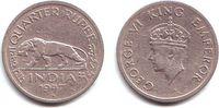 1/4 Rupie 1947 Indien George VI. (1936 - 1952) ss-vz  9,95 EUR  zzgl. 2,95 EUR Versand
