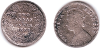 2 Annas 1883 Indien Victoria (1837 - 1901) ss  19,95 EUR  zzgl. 4,95 EUR Versand