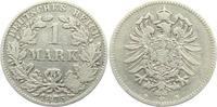 1 Mark 1875 B Kaiserreich 1 Mark - kleiner Adler s-ss  9,95 EUR  zzgl. 2,95 EUR Versand