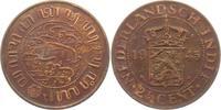 2 1/2 Cents 1945 Niederländisch Indien  vz  8,95 EUR  zzgl. 2,95 EUR Versand