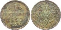 1 Heller 1859 Frankfurt leicht fleckig vz - RF - Fassungsspuren  19,00 EUR  zzgl. 4,95 EUR Versand