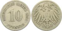 10 Pfennig 1890 J Kaiserreich 10 Pfennig - großer Adler s-ss  1,95 EUR  zzgl. 2,95 EUR Versand