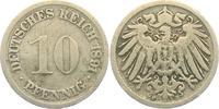 10 Pfennig 1891 F Kaiserreich 10 Pfennig - großer Adler ss  1,95 EUR  zzgl. 2,95 EUR Versand