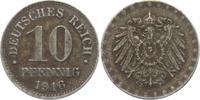 10 Pfennig 1916 J Ersatzmünzen des 1. Weltkrieges 10 Pfennig ss-vz  4,95 EUR  zzgl. 2,95 EUR Versand