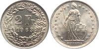 2 Franken 1963 B Schweiz stehende Helvetia vz  7,00 EUR  zzgl. 2,95 EUR Versand