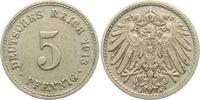 5 Pfennig 1913 A Kaiserreich 5 Pfennig - großer Adler vz  2,95 EUR  zzgl. 2,95 EUR Versand