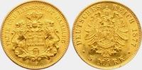 5 Mark 1877 J Hamburg Stadtwappen mit zwei Löwen f.st  998,00 EUR  zzgl. 6,95 EUR Versand