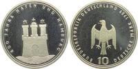 10 DM 1989 J Deutschland 800 Jahre Hamburger Hafen PP  9,95 EUR  zzgl. 2,95 EUR Versand