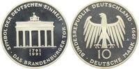 10 DM 1991 A Deutschland 200 Jahre Brandenburger Tor PP  9,95 EUR  zzgl. 2,95 EUR Versand