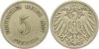 5 Pfennig 1897 G Drittes Reich 5 Pfennig - großer Adler ss  6,95 EUR  zzgl. 2,95 EUR Versand