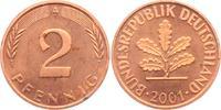 2 Pfennig 2001 A BRD  vz min. fl.  3,95 EUR  zzgl. 2,95 EUR Versand