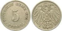 5 Pfennig 1903 E Kaiserreich 5 Pfennig - großer Adler ss-vz  3,95 EUR  zzgl. 2,95 EUR Versand