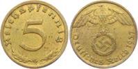 5 Reichspfennig 1937 G Drittes Reich 5 Reichspfennig - mit Hakenkreuz s... 9,00 EUR  zzgl. 2,95 EUR Versand