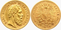 10 Mark 1873 F Württemberg König Karl von Württemberg (1864-1891) ss  254,00 EUR  zzgl. 6,95 EUR Versand