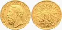 10 Mark 1872 G Baden Friedrich I.(1856-1907) f.vz  379,00 EUR  zzgl. 6,95 EUR Versand