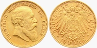 10 Mark 1906 G Baden Friedrich I.(1856-1907) ss  398,00 EUR  zzgl. 6,95 EUR Versand