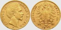 20 Mark 1873 D Bayern König Ludwig II. von Bayern (1864-1886) ss/Rf.  349,00 EUR  zzgl. 6,95 EUR Versand