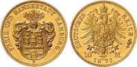10 Mark 1873 B Hamburg Stadtwappen ohne Sc...