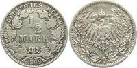 1/2 Mark 1909 A Kaiserreich 1/2 Mark ss  2,95 EUR  zzgl. 2,95 EUR Versand