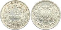 1/2 Mark 1913 F Kaiserreich 1/2 Mark ss-vz  4,95 EUR  zzgl. 2,95 EUR Versand