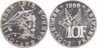 10 Francs 1988 Frankreich Roland Garros - Flugzeuge - Fliegerei st  29,00 EUR  zzgl. 4,95 EUR Versand