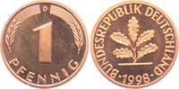 1 Pfennig 1998 D BRD  st  1,95 EUR  zzgl. 2,95 EUR Versand
