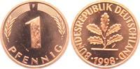 1 Pfennig 1998 F BRD  vz  1,95 EUR  zzgl. 2,95 EUR Versand